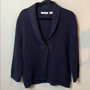 Liz Claiborne One-Button Cardigan Sweater